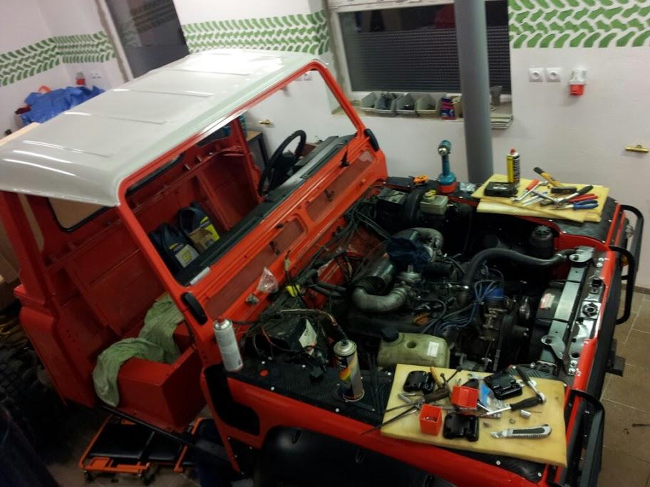 Zástavba motoru V8
